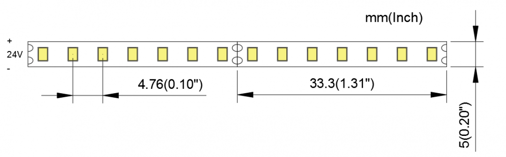 2216 210LED 5MM PCB