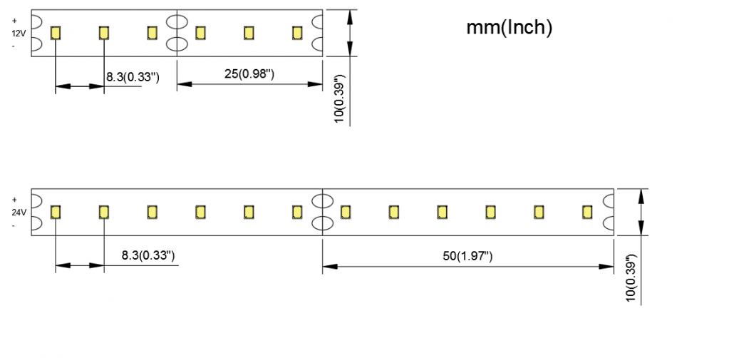 2835 120LED 10MM PCB