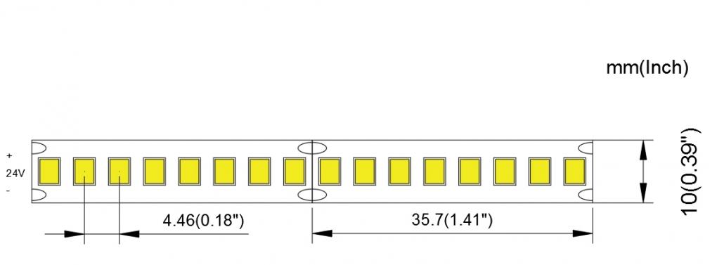 2835 224LED 10MM PCB