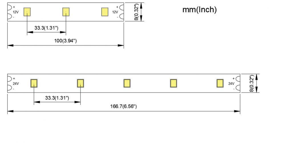 2835 30LED 8MM PCB