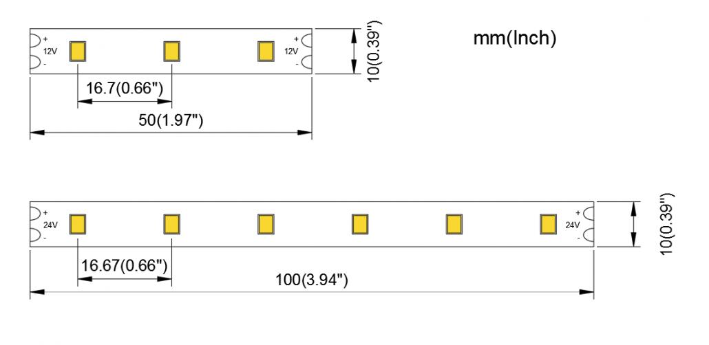 2835 60LED 10MM PCB