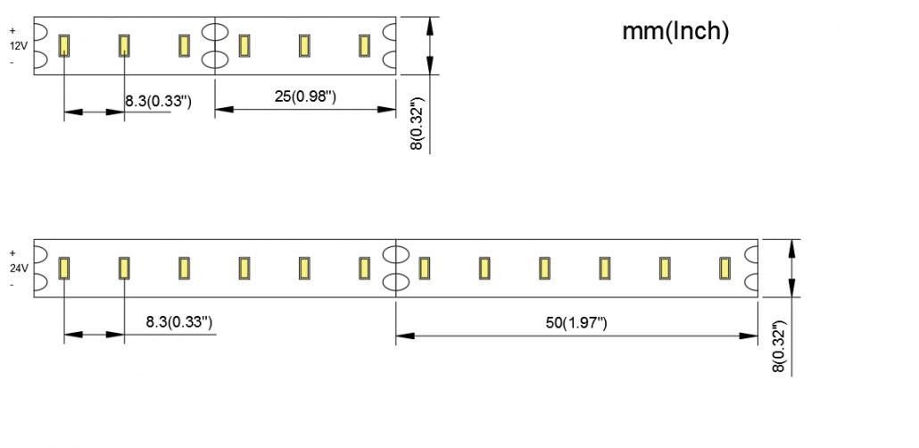 3014 120LED 8MM PCB