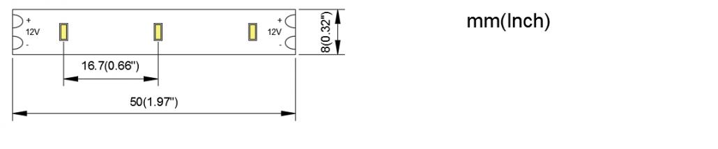 3014 60LED 8MM PCB