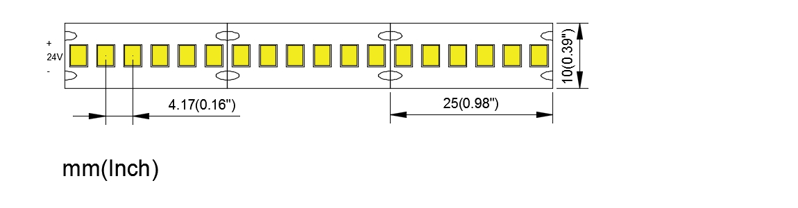 MN 2835 240 24 10 high density led strip china factory high bright
