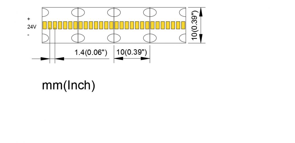 2110 700LED 10mm PCB