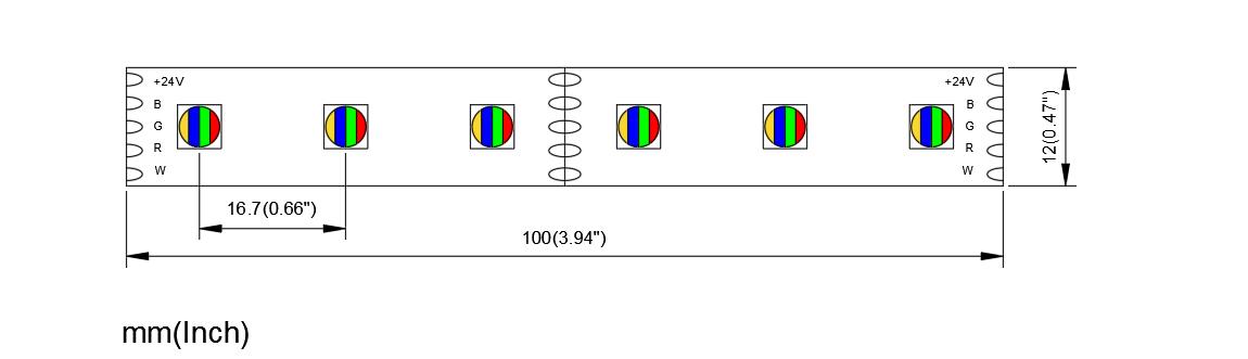 CCRGBW 5050 60 24 12 4