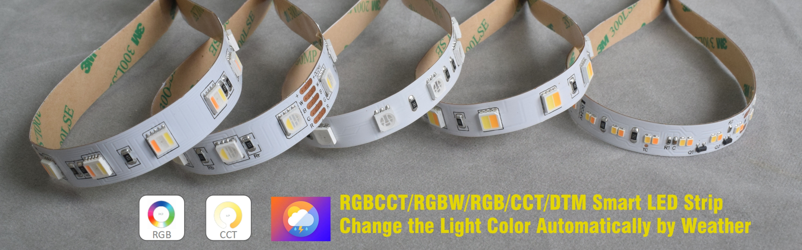 RGBCCT RGBW RGB CCT DTW LED STRIP SMART LED STRIP scaled