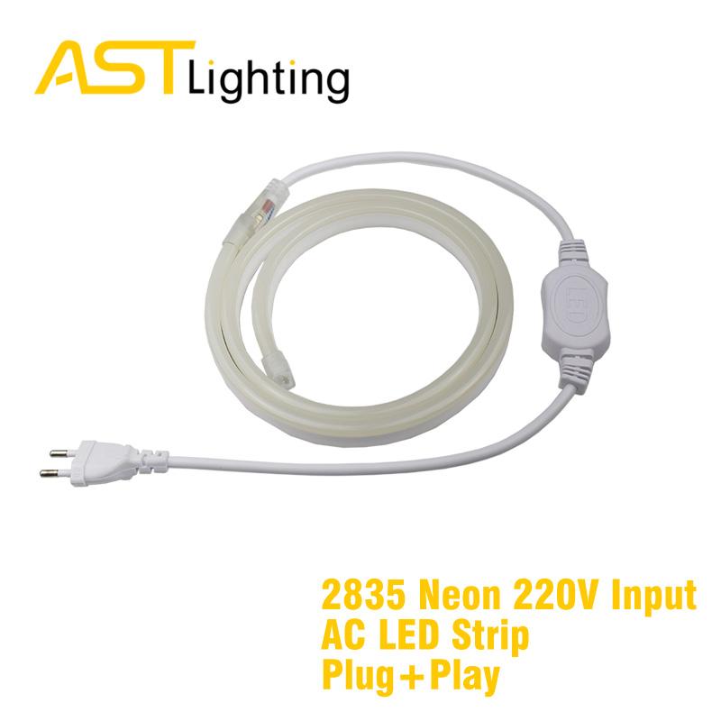 mono bright white neon color 2835 5050 220vac led strip china factory 2
