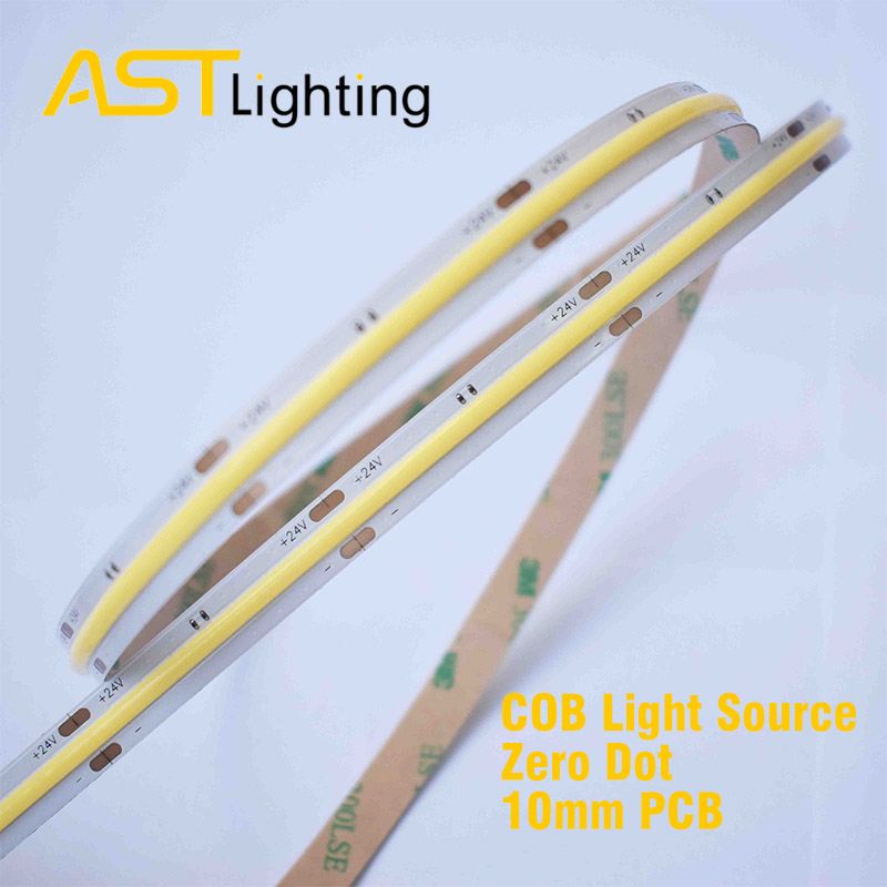COB 480 24 10 led strip china factory high bright dot free