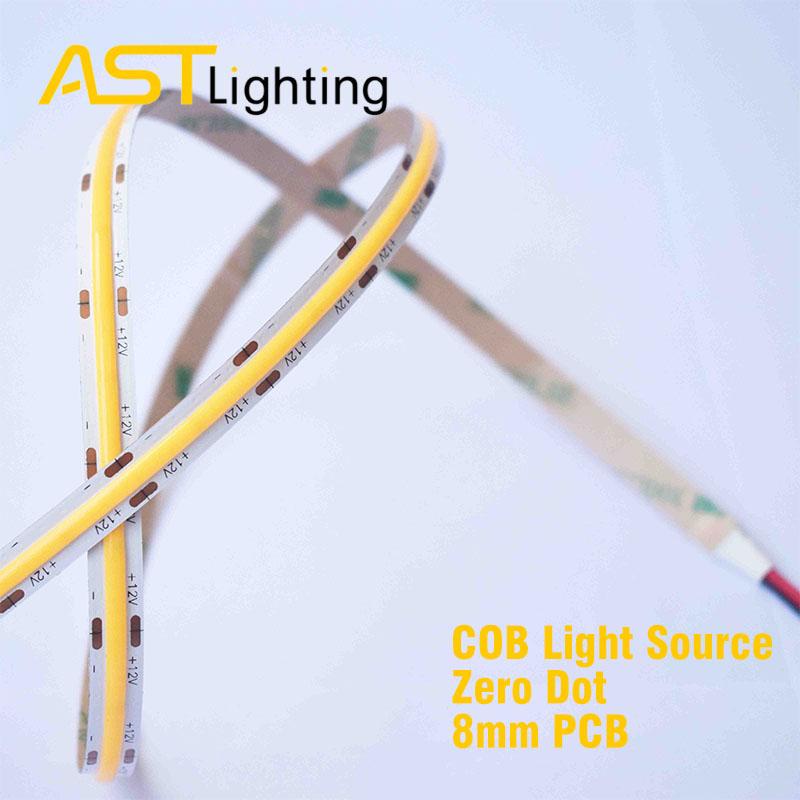 COB 480 24 8 led strip china factory high bright dot free
