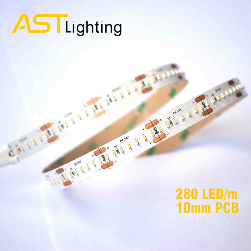HD 1808 280 24 10 2 led strip china factory high bright