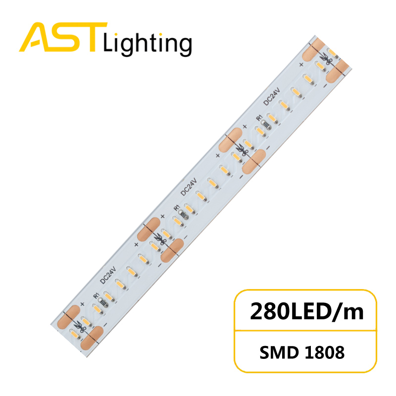 HD 1808 280 24 10 1 led strip china factory high bright