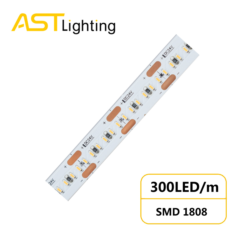 HD 1808 300 24 10 1 led strip china factory high bright