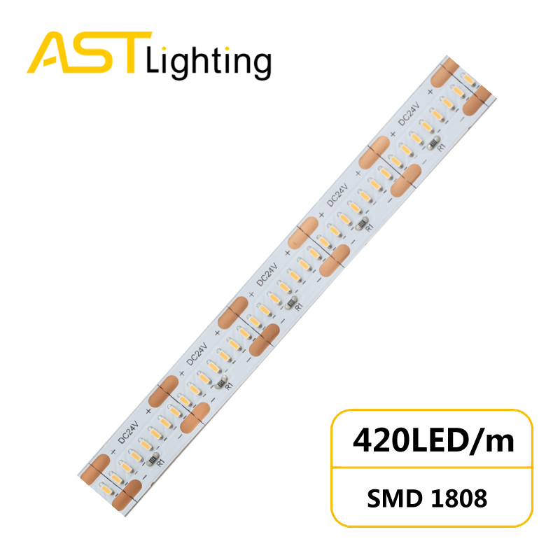 HD 1808 420 24 10 1 led strip china factory high bright