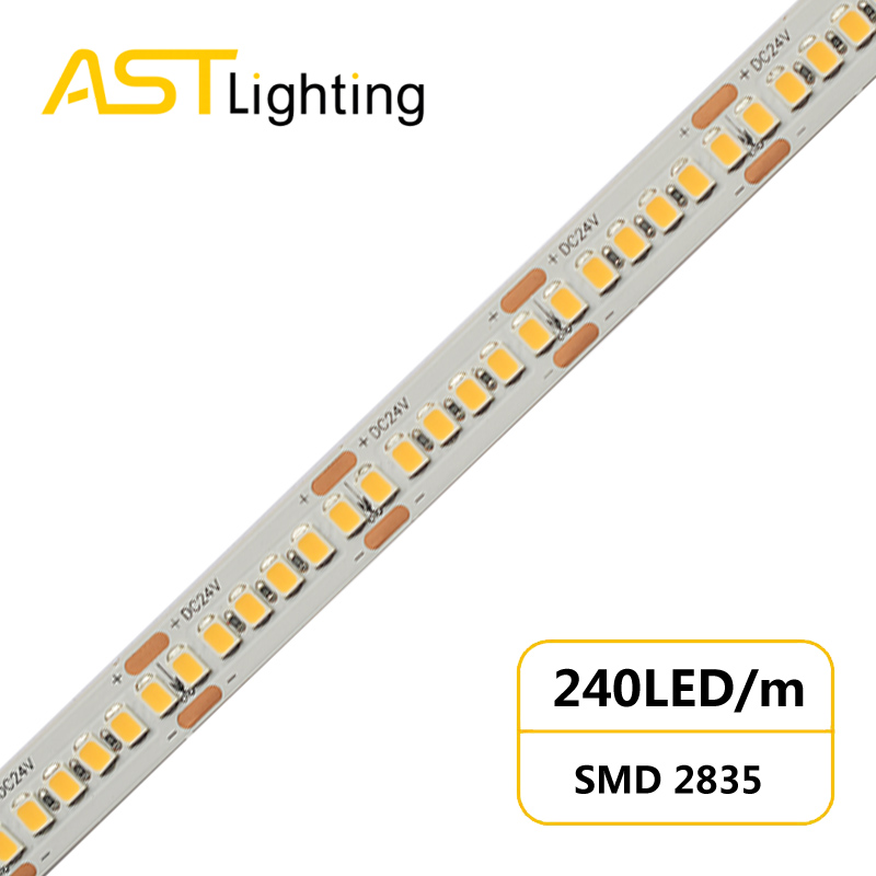 MN 2835 240 24 10 high density led strip china factory high bright5