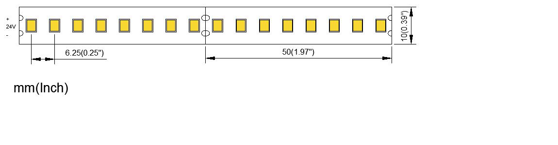 2835 160LED 10MM PCB