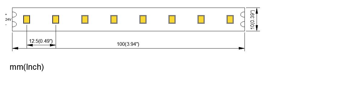 2835 80LED 10MM PCB