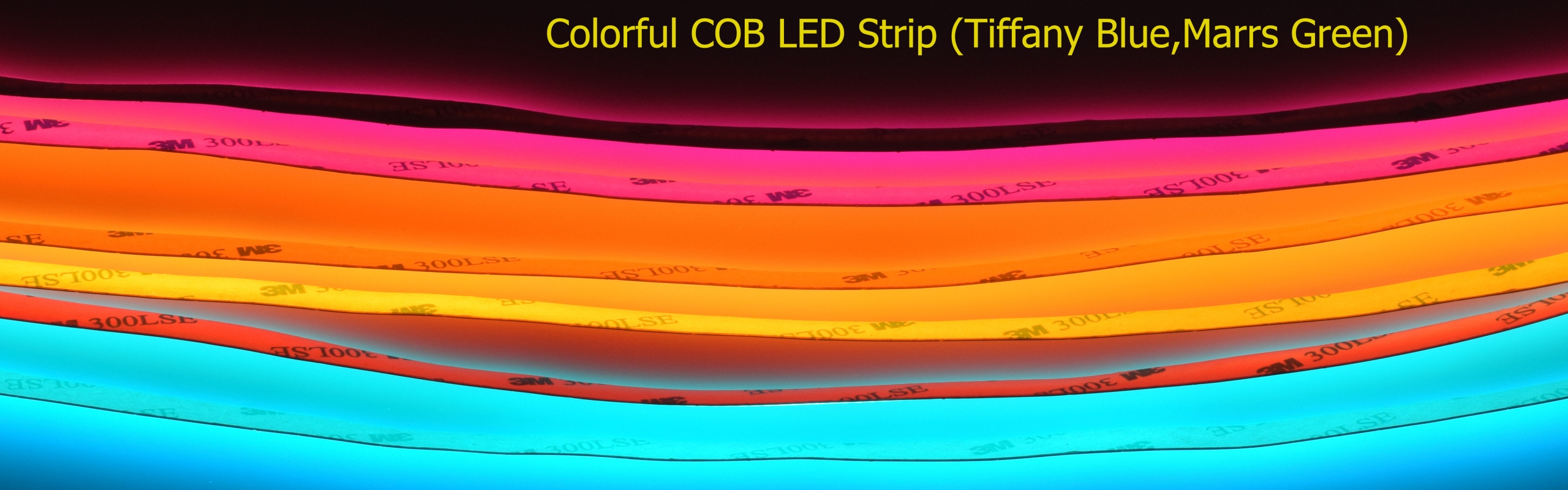 COB LED STRIP Marrs Green Tiffany Blue chinese factory colorful scaled