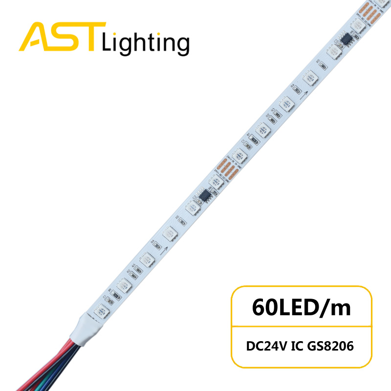 DS GS8206 60 24 10 2 dream color led strip china factory dynamic color 5050 led strip IC STRIP