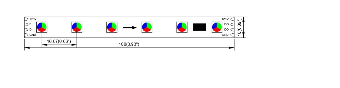 DS GS8206 60 24 10 dream color led strip china factory dynamic color 5050 led strip IC STRIP 3