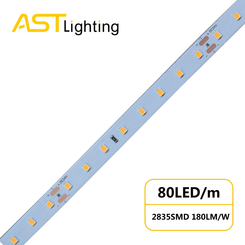 HE 2835 80 24 10 CV led strip china factory high effency dimable