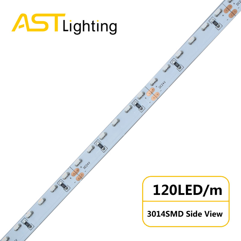 MN 3014S 120 24 8 led strip china factory side view warmwhite dimable