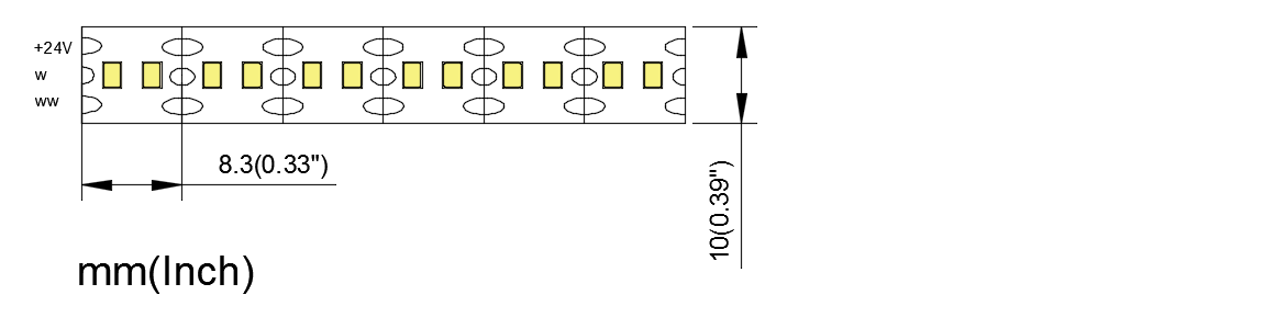 MC 2835 120 10 CCT high bright China factory high efficiency led strip4