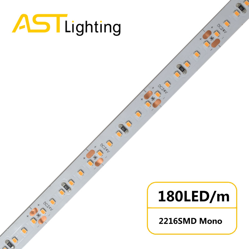 MN 2216 180 24 10 water proof led strip ip67 china factory