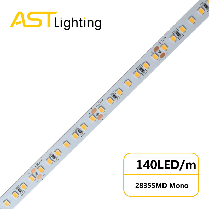 MN 2835 140 24 10 water proof led strip ip67 china factory