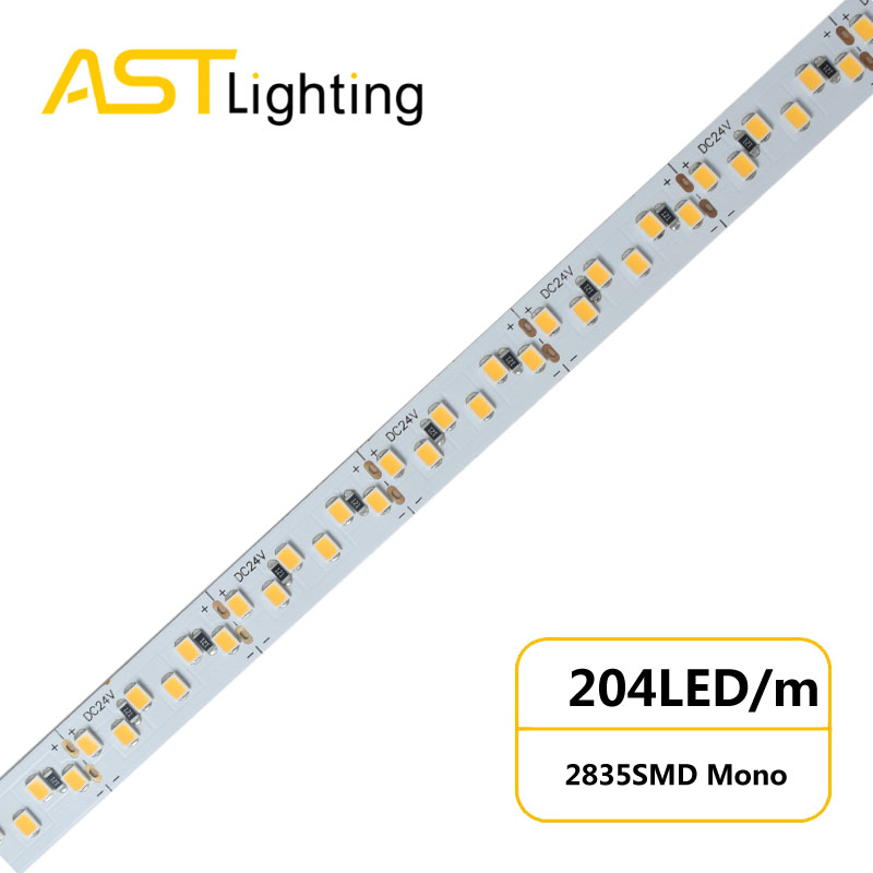 MN 2835 204 24 10 water proof led strip ip67 china factory
