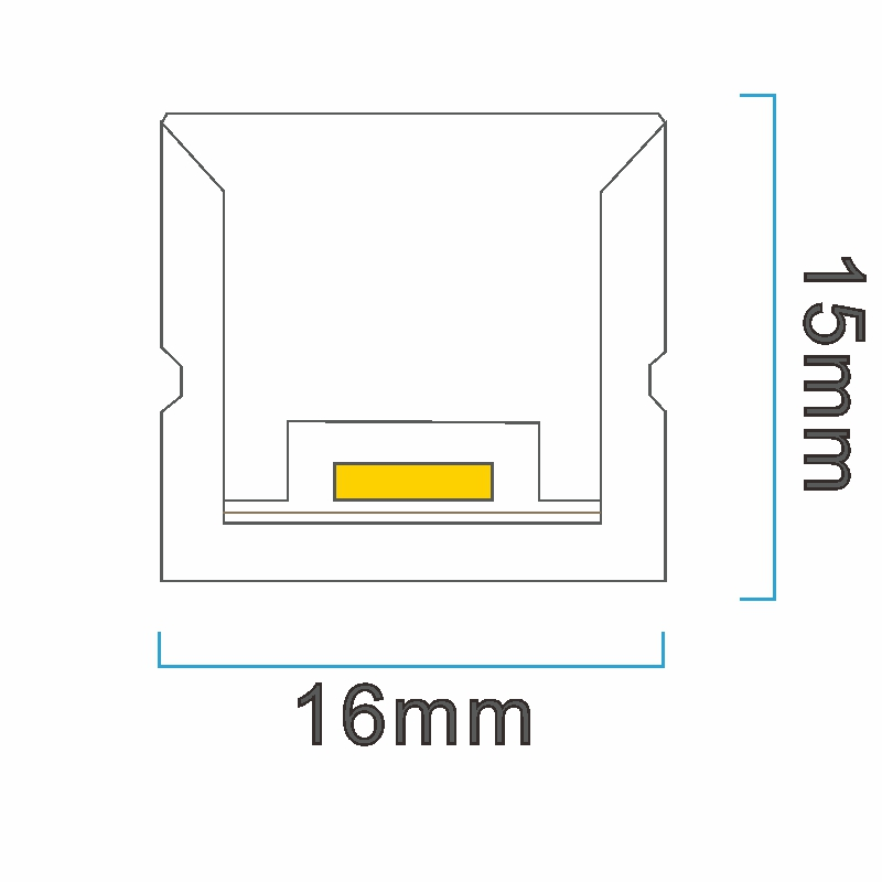 NT1615 ICON drawing LED neon light China factory lighting solution LED strip light manufacturer project led light solution UV proof waterproof outdoor neon lighting LED neon lighting sign