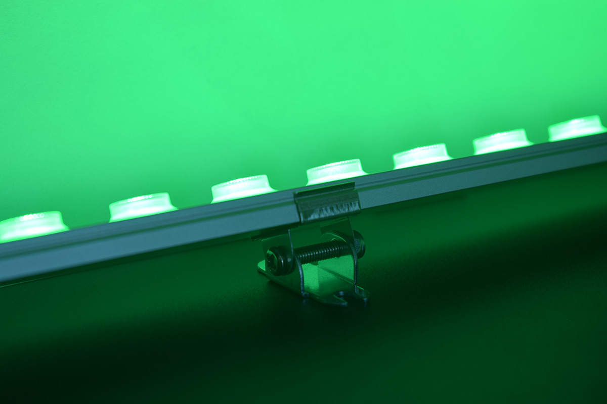green color linear wall washer lighting
